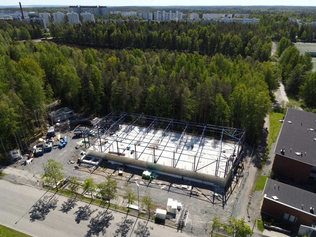 gogo hervanta rakennustyömaa kuvattuna 30.5.2021